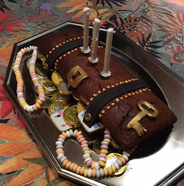 Gâteau anniversaire le trésor des pirates